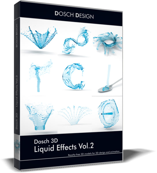 3D model liquid effects vol 2