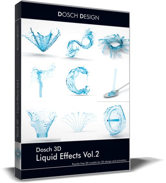 3D model liquid effects vol 2