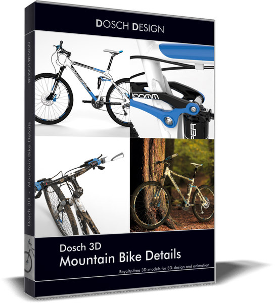 mountain bike details 3D