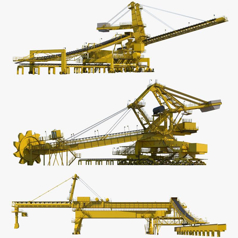 3D industrial machines model