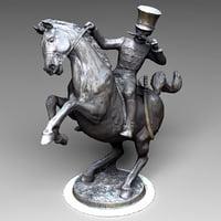 hussar statue 3D model
