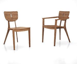 3D diuna teak chair armchair