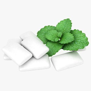 chewing gum mint 3D model