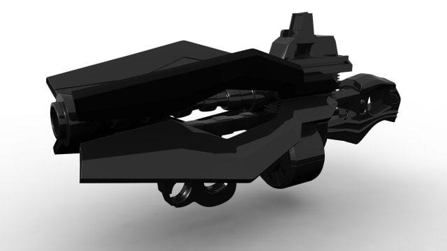 sci fi gun prototype model