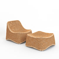 3D chill lounge chair stool model