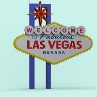 3D model las vegas sign