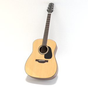 guitar acoustic takamine 3D model