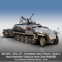 3D kfz - anti-aircraft vehicle