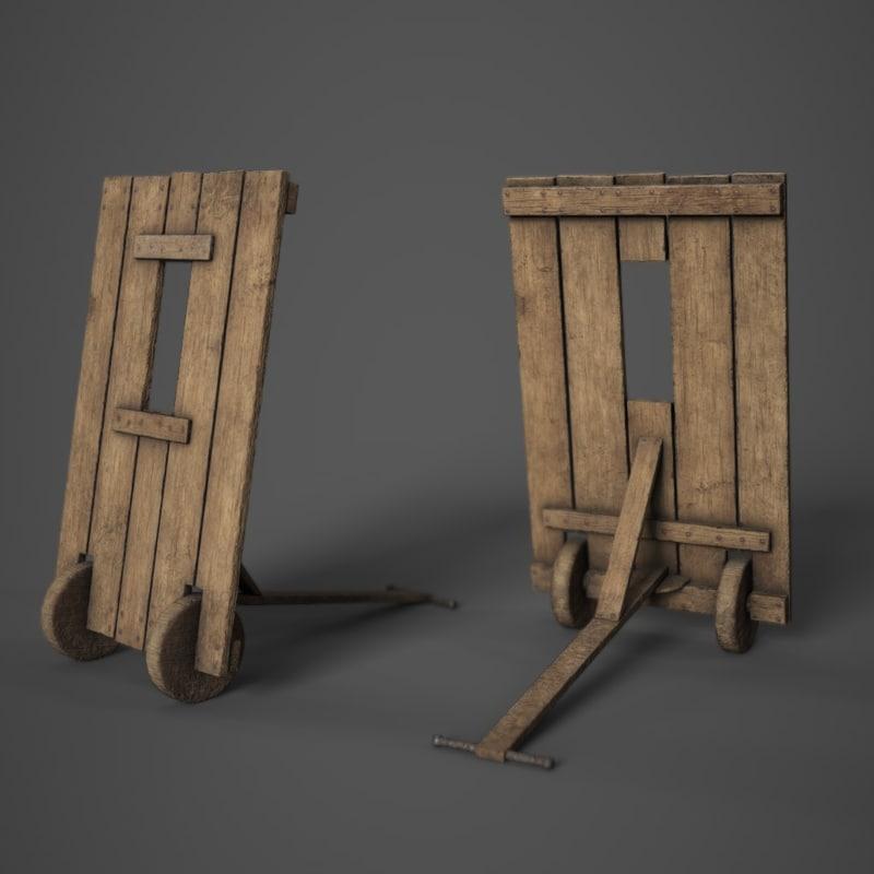 3D model ready medieval mantlet