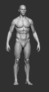 men base mesh 3D model