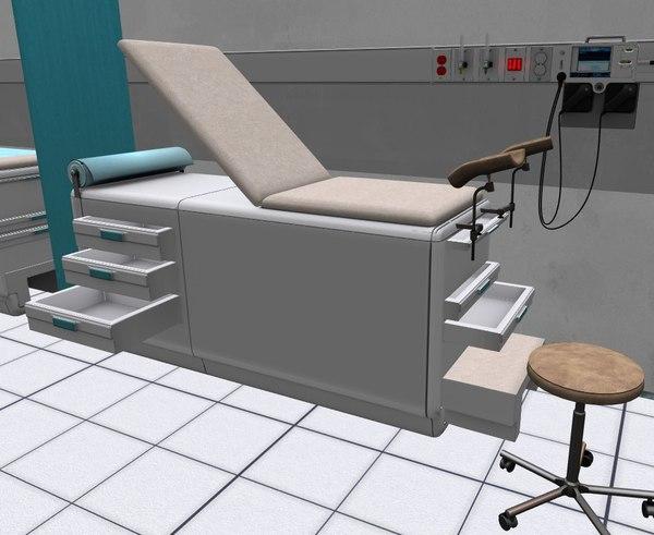 3D examination table model