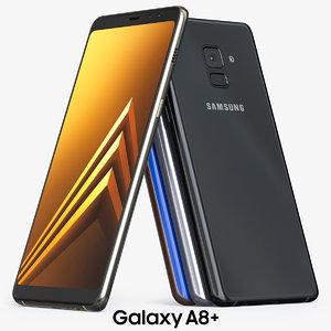 3D model samsung galaxy a8 2018