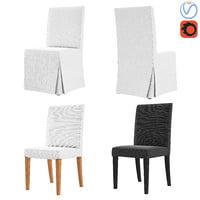 3D chairs ikea henriksdal model