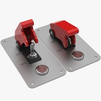 toggle switch button 3D