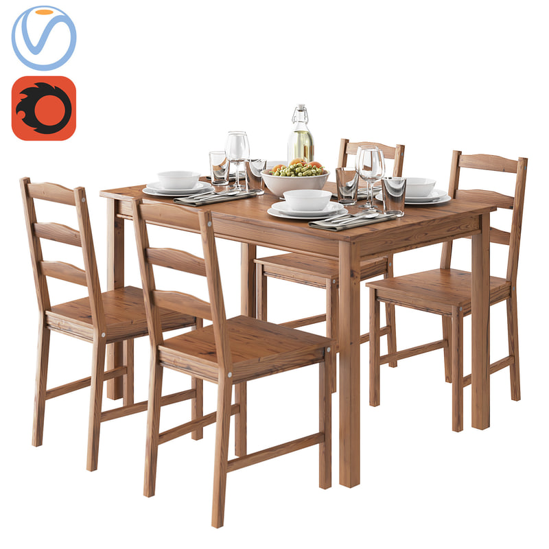 Table Chair Ikea Jokkmokk Model