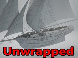 3D model ship cutter