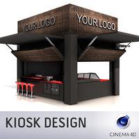 3D model kiosk design