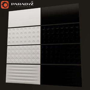 ceramic tile low-poly paradyz 3D