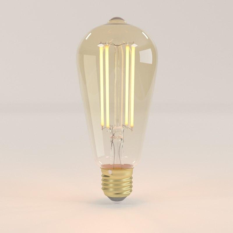 3D decorative edison led bulb model