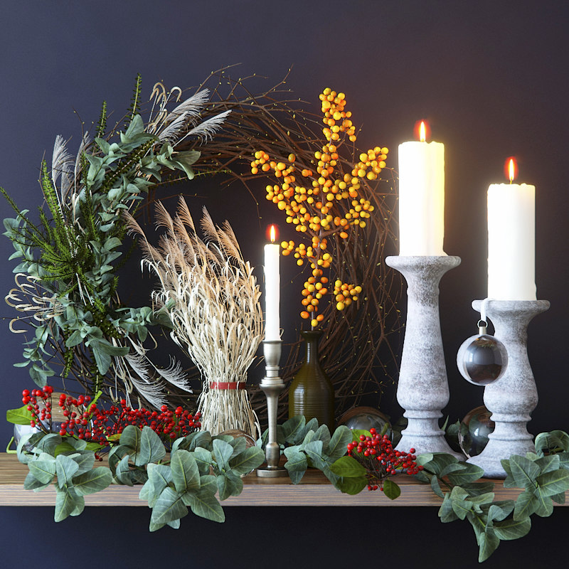 decor branches candle model