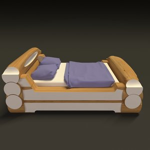 highland style bed 3D