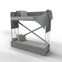bed bunk couch 3D
