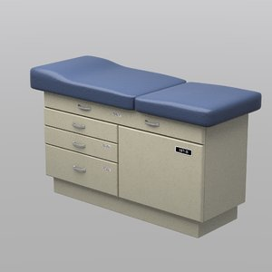 medical table bed 3D model