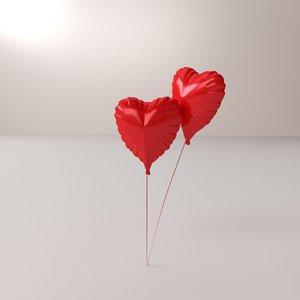 3D heart balloon model