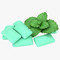 chewing gum mint color 3D model