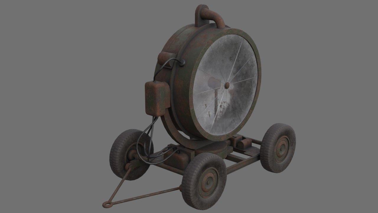 searchlight 1b 3D model