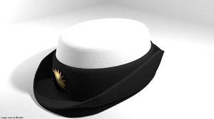 3D hat peaked