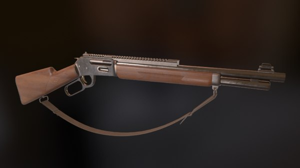 3D model winchester lever rifle