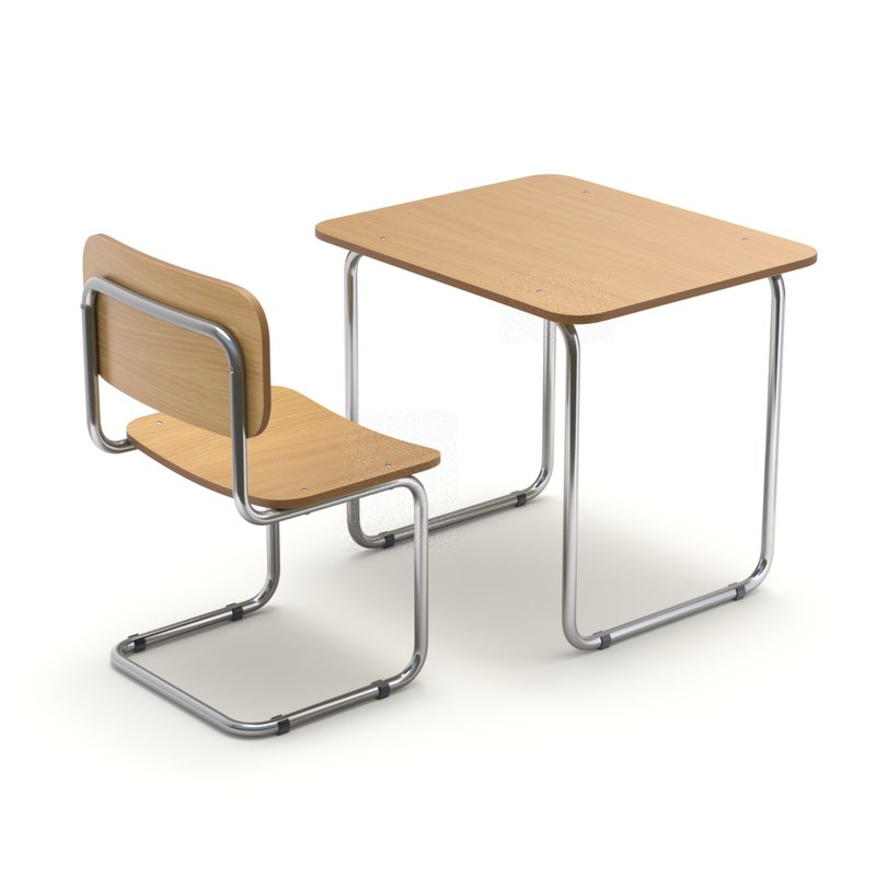 3D chair desk school