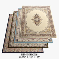 3D traditional rugs 17 model