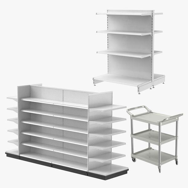retail shelves utility 01 3D