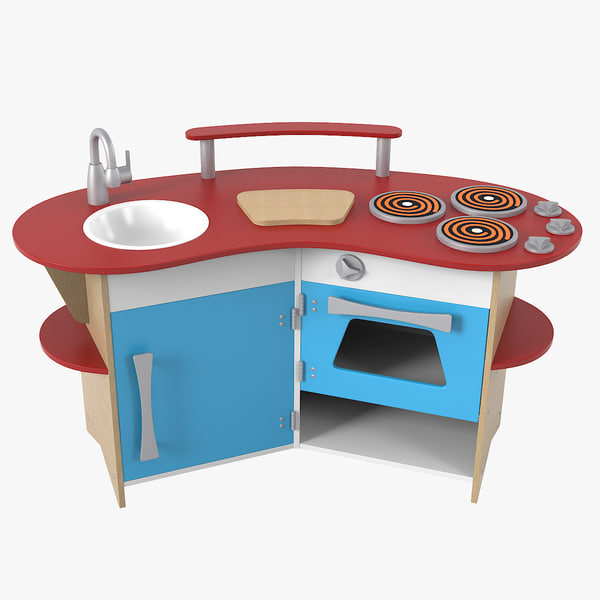 3D realistic toy kitchen model