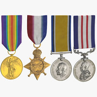 3D military medals