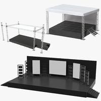 3D model concert stages