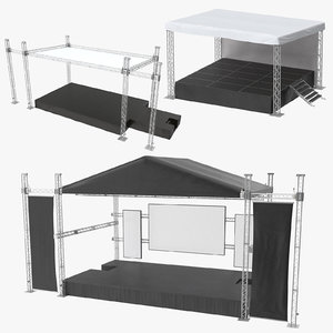 outdoor stages 3D model