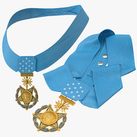 3D medals honor airforce poses