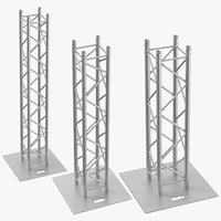 3D model stage truss pillars