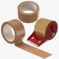 3D packing tapes brown
