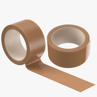 3D packing tapes brown model