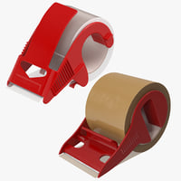 packing tapes dispensers 3D model