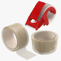 3D packing tapes clear model