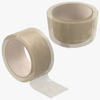 3D packing tapes clear
