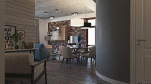 3D interior scene model