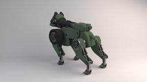 isometric sci-fi robot dog 3D model