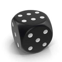 dice black 3D model