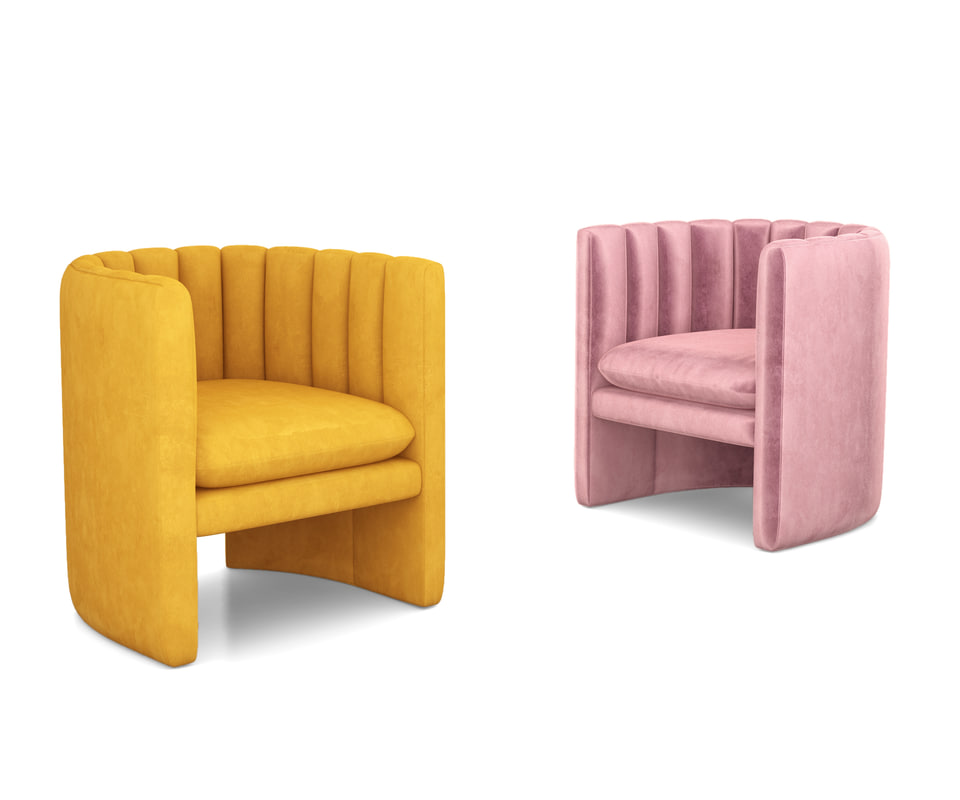 3D loafer lounge chair tradition